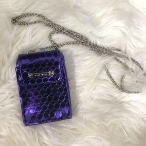 Nine West Clutch with Chain Purse Purple
